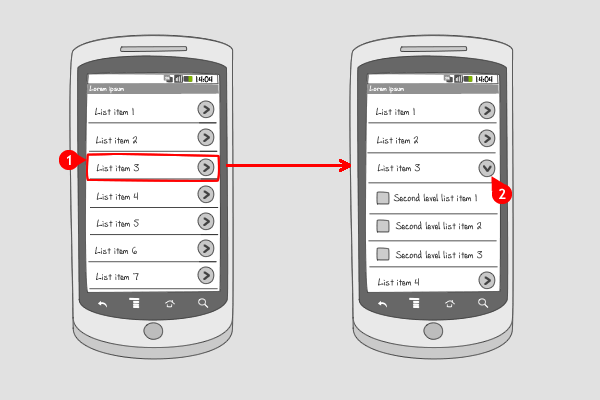 Expandable List Android Interaction Design Patterns