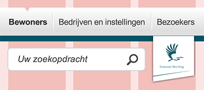 component of Den Haag website