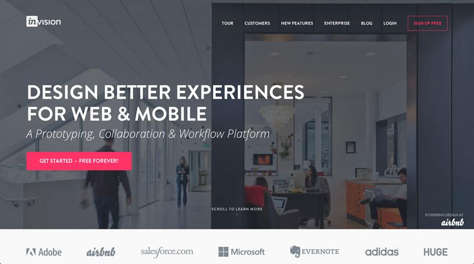 InVision screen tools UNITiD interaction designers