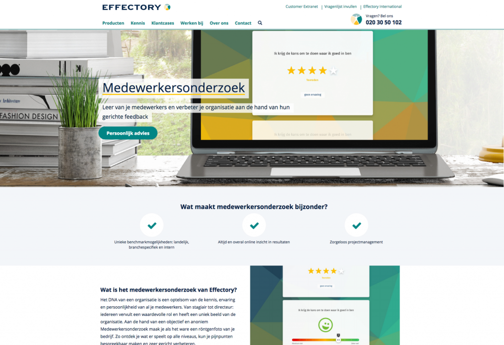 Productpagina Effectory