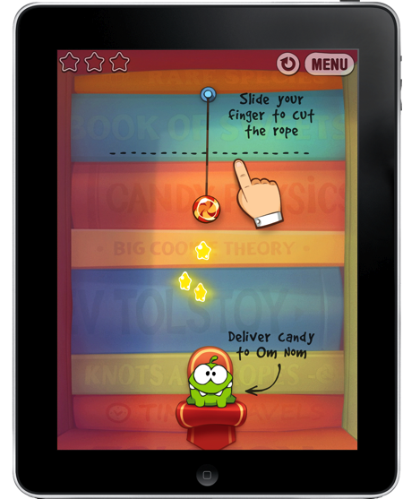 Cut The Rope op iPad