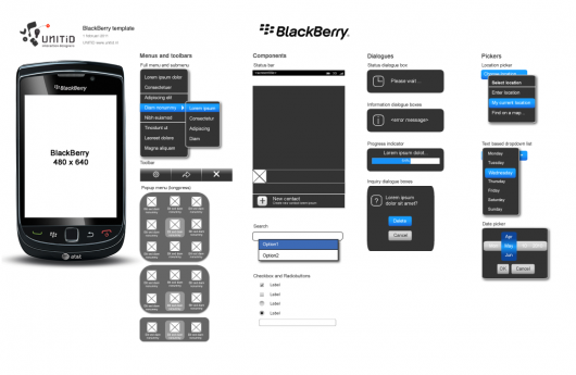 Blackberry Mockup Template