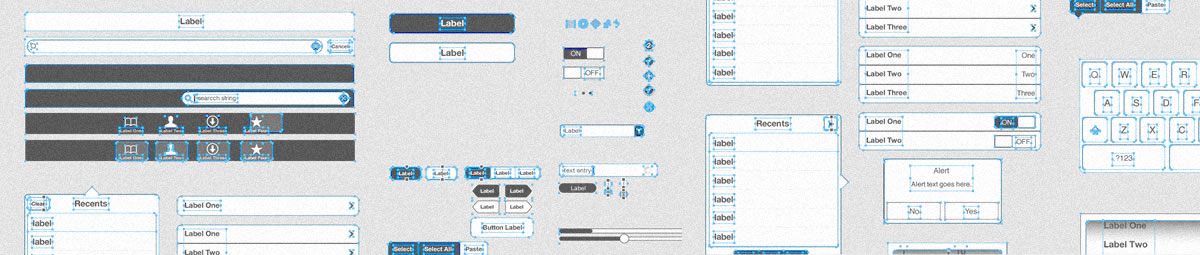 Fireworks wireframe templates for iPad & iPhone