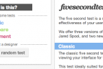 Screenshot fivesecondtest.com